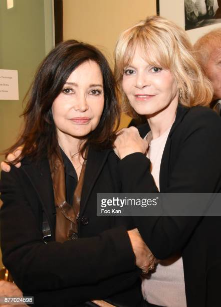 PARIS FRANCE NOVEMBER Actress Evelyne Bouix and Writer Francoise Dorner attend the Tribute to JeanClaude Brialy at Centre National du Cinema et de...