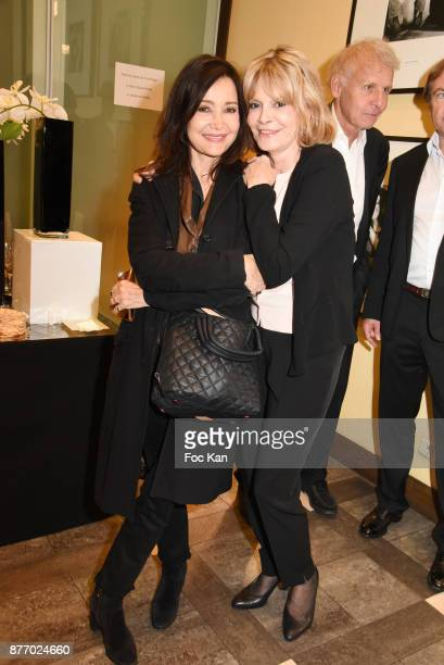 Actress Evelyne Bouix and Writer Francoise Dorner attend the Tribute to JeanClaude Brialy at Centre National du Cinema et de l'Image Animee on...