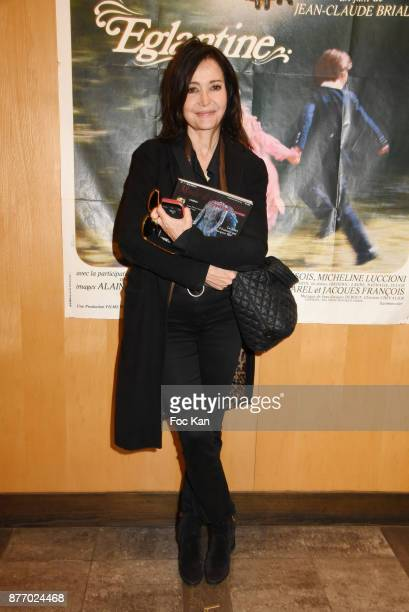 Actress Evelyne Bouix attends the Tribute to JeanClaude Brialy at Centre National du Cinema et de l'Image Animee on November 20 2017 in Paris France