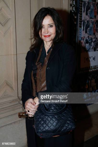 Actress Evelyne Bouix attends the Tribute to JeanClaude Brialy for the 10th anniversary of his death Held at Centre National du Cinema et de l'Image...