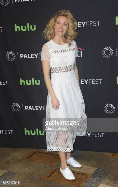Actress Evelyne Brochu arrives for The Paley Center For Media's 34th Annual PaleyFest Los Angeles 'Orphan Black' held at Dolby Theatre on March 23...