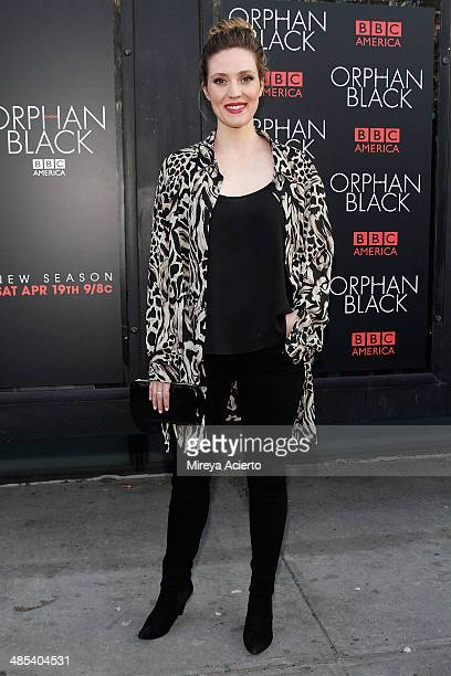 Actress Evelyne Brochu attends the 'Orphan Black' premiere at Sunshine Cinema on April 17 2014 in New York City