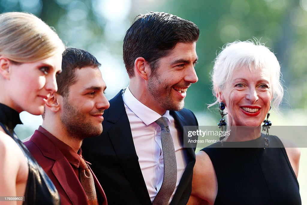 Actress Evelyne Brochu, director Xavier Dolan, actors Pierre Yves Cardinal and Lise Roy attend the 'Tom At The Farm' Premiere during the 70th Venice International Film Festival at the Palazzo del Cinema on September 2, 2013 in Venice, Italy.