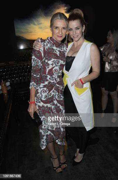 Actress Ever Carradine and actress Annie Wershing arrive for Excelsior A Celebration Of The Amazing Fantastic Incredible And Uncanny Life Of Stan Lee...