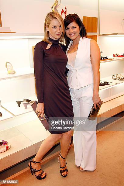 Actress Ever Carradine and actress Tiffani Thiessen attends the Ferragamo event with Debi Mazar and Adrian Grenier to benefit the L'Aquila earthquake...