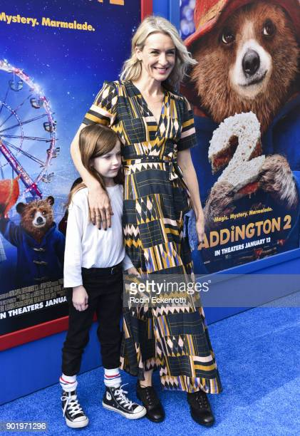 Actress Ever Carradine and guestarrives at the premiere of Warner Bros Pictures' 'Paddington 2' at Regency Village Theatre on January 6 2018 in...