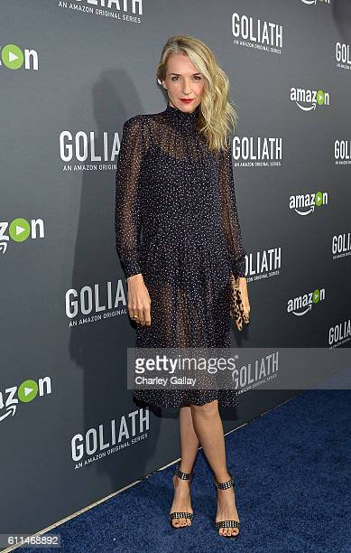 Actress Ever Carradine attends the Amazon red carpet premiere screening of original drama series 'Goliath' at The London West Hollywood on September...