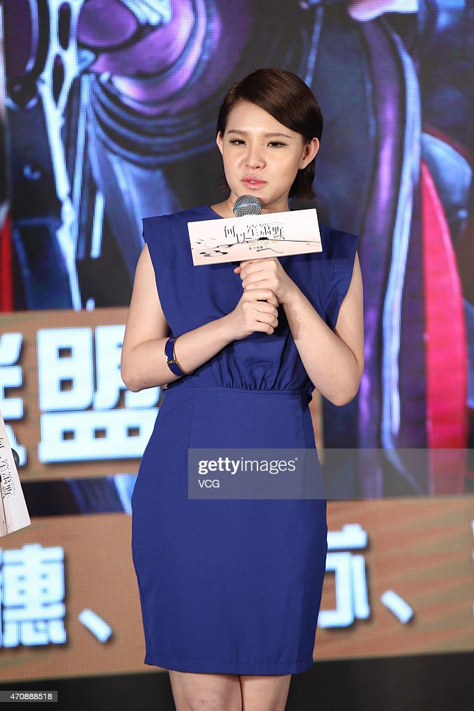 Actress Evonne Xie attends premiere press conference of director Huang Bin's new film 'Silence Seperation' on April 23, 2015 in Beijing, China.