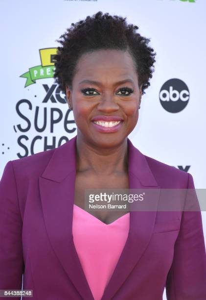 Actress Executive Producer of EIF Presents XQ Super School Live Viola Davis attends XQ Super School Live presented by EIF at Barker Hangar on...