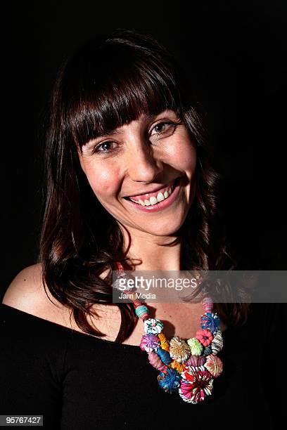 Actress Fabiana Perzabal poses during a photo session after the press conference of the new Tv series named 'Bienes Raices' presebtation at IPN...