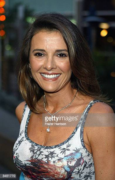 Actress Fabiana Udenio arrives at The Los Angeles Italian Film Awards opening evening held at the Arclight Cinemas on April 20 2004 in Los Angeles...