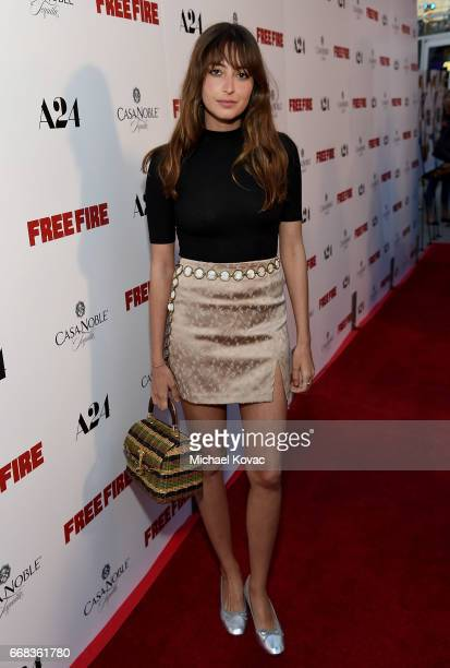 Actress Fabianne Therese attends The Los Angeles Premiere Of 'Free Fire' Presented By Casa Noble Tequila on April 13 2017 in Los Angeles California