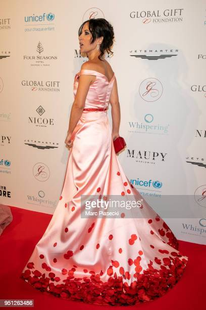 Actress Fabienne Carat attends the Global Gift Gala at Four Seasons Hotel George V on April 25 2018 in Paris France