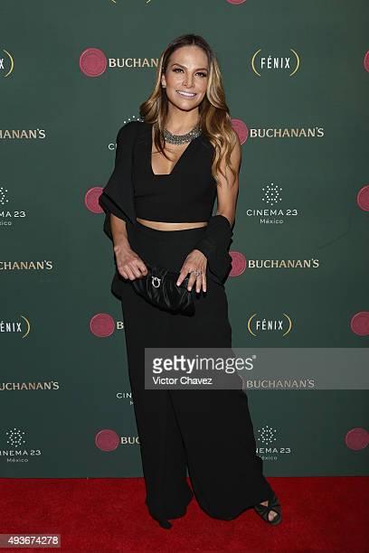 Actress Fabiola Campomanes attends the Premio Buchanana's A la grandeza del Cine Mexicano red carpet at Campo Marte on October 21 2015 in Mexico City...