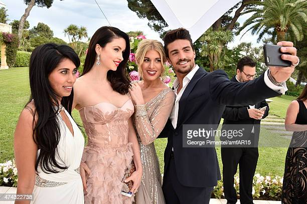 Actress Fagun Thakrar models Emma Miller Hofit Golan and Mariano Di Vaio attend amfAR's 22nd Cinema Against AIDS Gala Presented By Bold Films And...