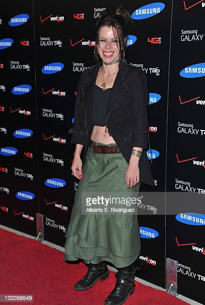 Actress Fairuza Balk arrives to the Samsung and Verizon Launch of The Samsung Galaxy Tab 101 on August 2 2011 in West Hollywood California