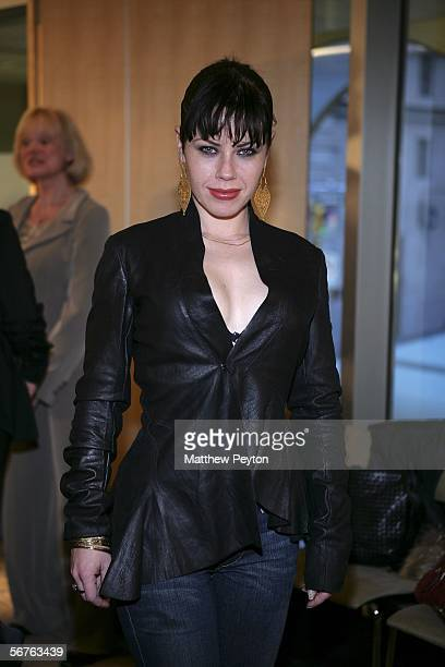 Actress Fairuza Balk attends the Alvin Valley Fall 2006 fashion show during Olympus Fashion Week February 6 2006 in New York City