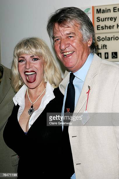 Actress Faith Brown and TV and radio presenter Ed Stewart attend the 49th Variety Club Race Day at Sandown race course on September 1 2007 in London...