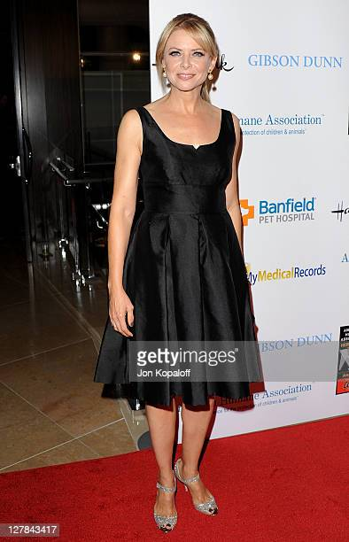 Actress Faith Ford arrives at the American Humane Association's 1st Annual Hero Dog Awards at The Beverly Hilton hotel on October 1 2011 in Beverly...