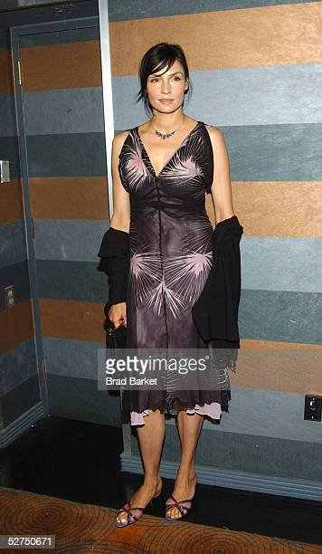 Actress Famke Janssen arrives at The Atlantic Theater Company's 2005 Spring Gala at the Rainbow Room on May 2 2005 in New York City