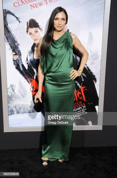 """Actress Famke Janssen arrives at the """"Hansel & Gretel: Witch Hunters"""" Los Angeles premiere at TCL Chinese Theatre on January 24, 2013 in Hollywood,..."""