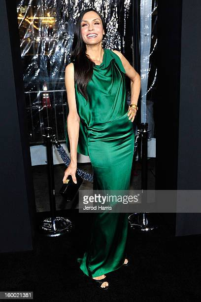 """Actress Famke Janssen arrives at the Los Angeles Premiere of """"Hansel & Gretel: Witch Hunters"""" at TCL Chinese Theatre on January 24, 2013 in..."""