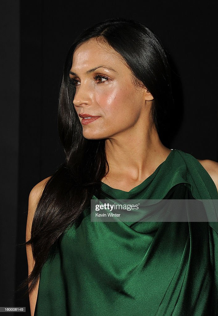 Actress Famke Janssen arrives for the Los Angeles premiere of Paramount Pictures' 'Hansel And Gretel Witch Hunters' at TCL Chinese Theatre on January 24, 2013 in Hollywood, California.