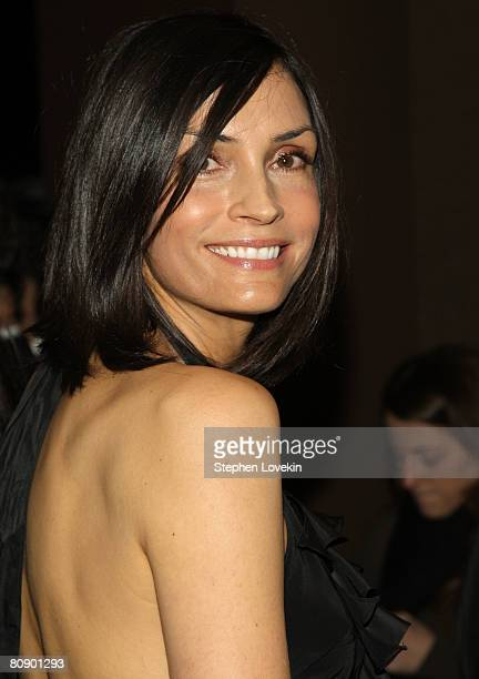 Actress Famke Janssen attends a screening of Iron Man hosted by the Cinema Society and Michael Kors at the Tribeca Grand Screening Room on April 28...
