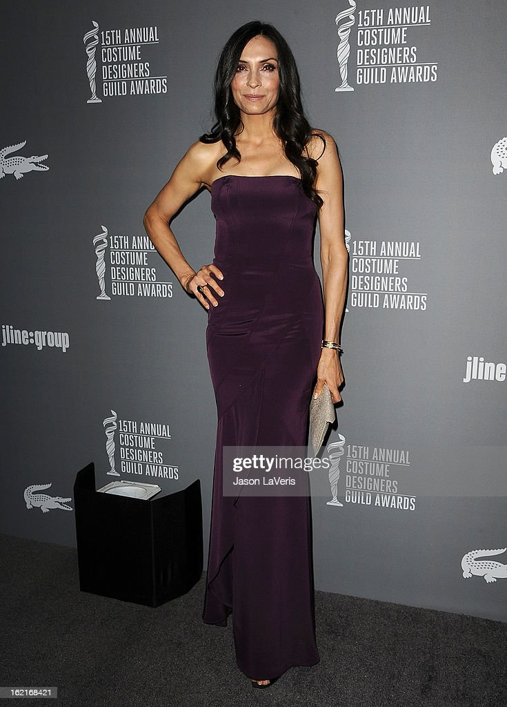 Actress Famke Janssen attends the 15th annual Costume Designers Guild Awards at The Beverly Hilton Hotel on February 19, 2013 in Beverly Hills, California.