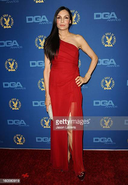 Actress Famke Janssen attends the 65th annual Directors Guild Of America Awards at The Ray Dolby Ballroom at Hollywood Highland Center on February 2...