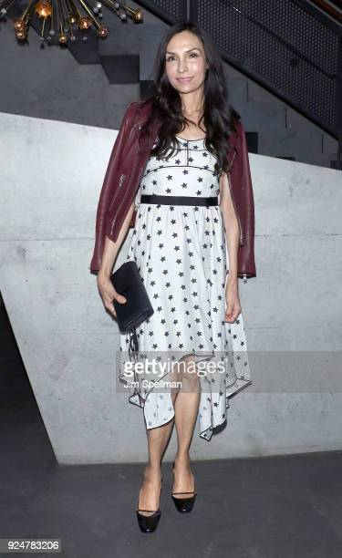 Actress Famke Janssen attends the after party for Louisiana Caviar hosted by The Cinema Society with Avion and Watchbox at The Mailroom on February...