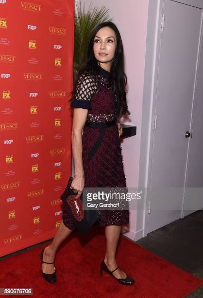 Actress Famke Janssen attends 'The Assassination Of Gianni Versace American Crime Story' New York screening at Metrograph on December 11 2017 in New...