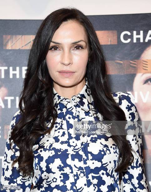 Actress Famke Janssen attends the 'Notes From The Field' New York screening at Museum of Modern Art on February 21 2018 in New York City