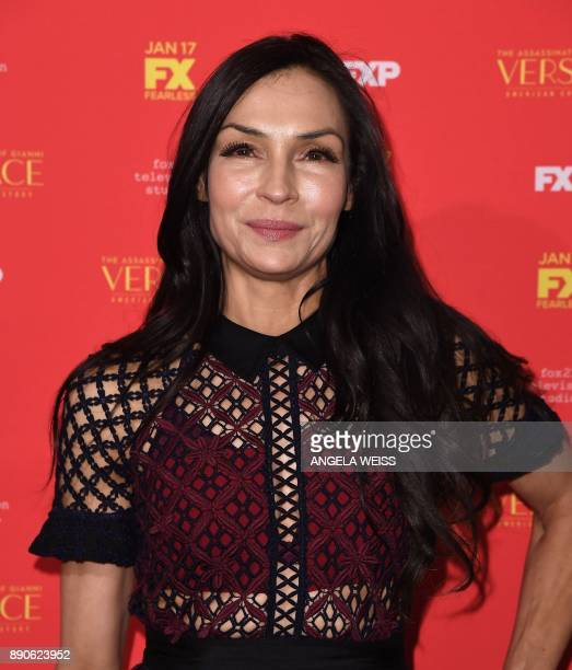 Actress Famke Janssen attends the premiere of 'The Assassination of Gianni Versace American Crime Story' at the Metrograph on December 11 in New York...