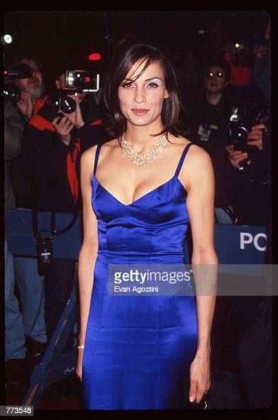 Actress Famke Janssen attends the premiere of the film Goldeneye at Radio City Music Hall November 13 1995 in New York City The film is the...