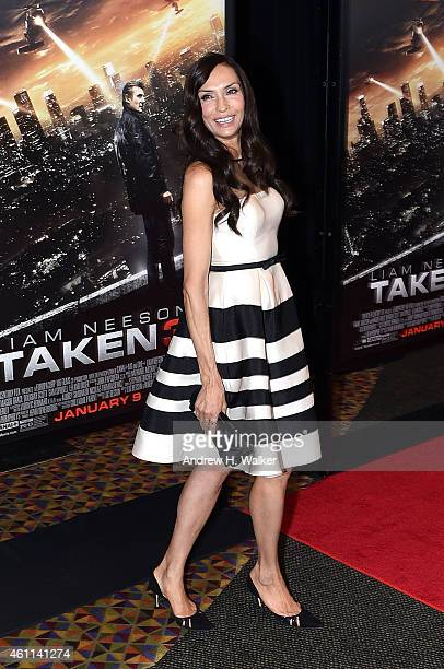 Actress Famke Janssen attends the Taken 3 Fan Event Screening at AMC Empire 25 theater on January 7 2015 in New York City