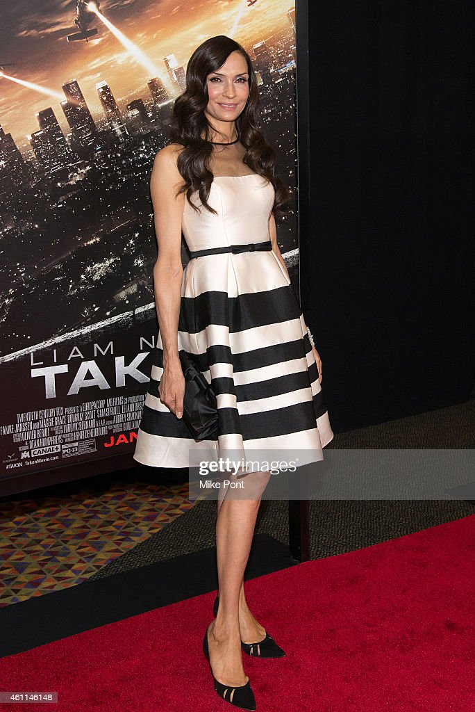 Actress Famke Janssen attends the 'Taken 3' Fan Event Screening at the AMC Empire 25 theater on January 7, 2015 in New York City.