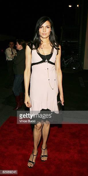 Actress Famke Janssen attends the Twentieth Century Fox film Hide and Seek on January 24 2005 in Los Angeles California
