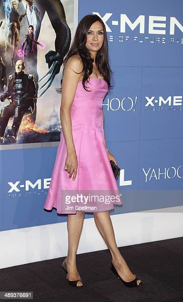 Actress Famke Janssen attends the 'XMen Days Of Future Past' World Premiere Outside Arrivals at Jacob Javits Center on May 10 2014 in New York City