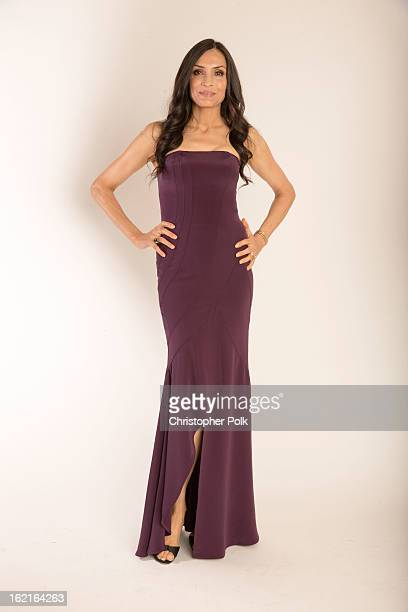 Actress Famke Janssen poses for a portrait during the 15th Annual Costume Designers Guild Awards with presenting sponsor Lacoste at The Beverly...