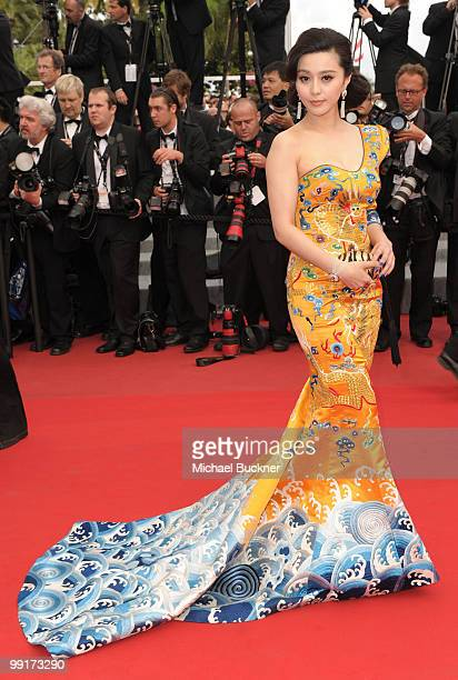 Actress Fan Bing Bin attends the 'Robin Hood' Premiere at the Palais des Festivals during the 63rd Annual Cannes Film Festival on May 12 2010 in...