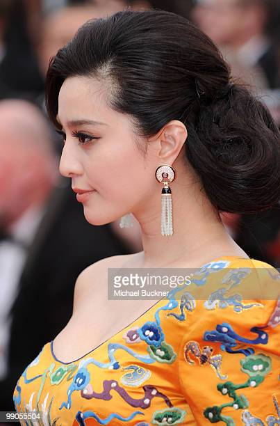 Actress Fan Bing Bing attends the Robin Hood Premiere at the Palais des Festivals during the 63rd Annual Cannes Film Festival on May 12 2010 in...