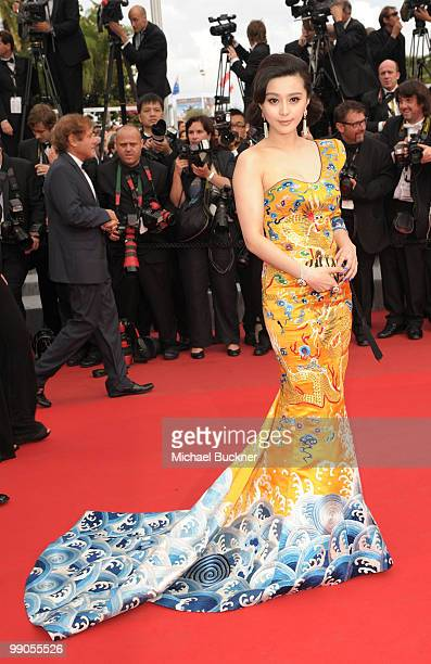 Actress Fan Bing Bing attends the 'Robin Hood' Premiere at the Palais des Festivals during the 63rd Annual Cannes Film Festival on May 12 2010 in...