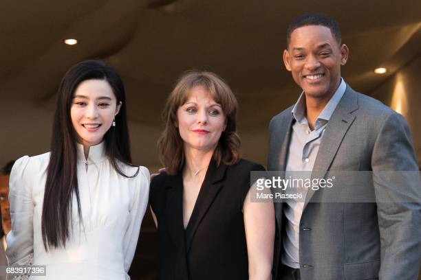 Actress Fan Bing Bing director Maren Ade and actor Will Smith attend the official jury dinner of the 70th Annual Cannes Film Festival at Martinez...