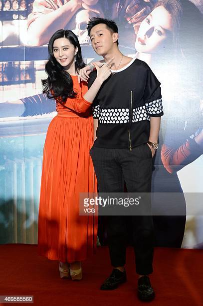 Actress Fan Bingbing and actor Han Geng attend Ever Since We Love press conference at Millennium Hotel on April 13 2015 in Shanghai China