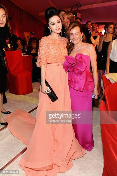 Actress Fan Bingbing and Chopard CoPresident and Artistic Director Caroline Scheufele attend Chopard at 21st Annual Elton John AIDS Foundation...