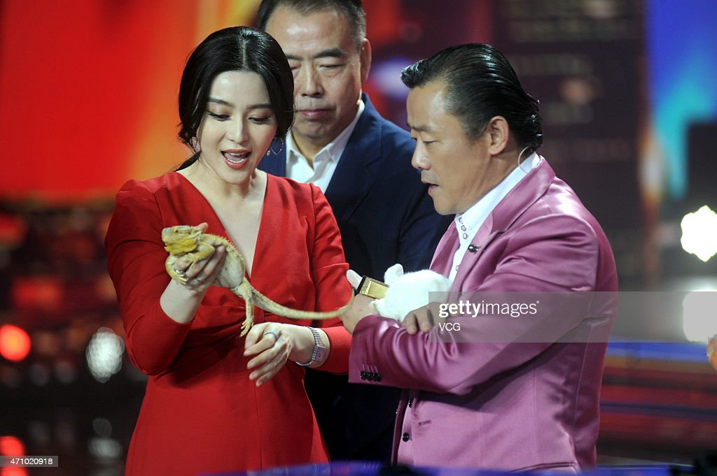 """Fan Bingbing Attends """"Amazing Chinese"""" Recording In Shanghai : News Photo"""