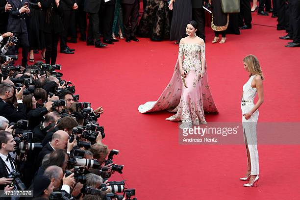Actress Fan Bingbing and model Karlie Kloss attend the opening ceremony and premiere of La Tete Haute during the 68th annual Cannes Film Festival on...