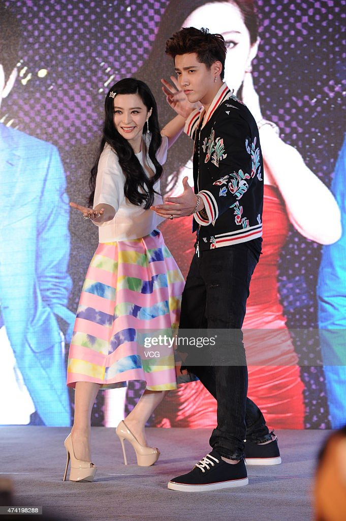 Actress Fan Bingbing and singer Kris Wu attend a reality television