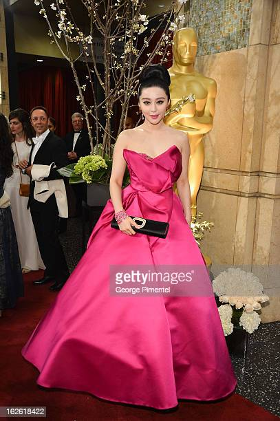 Actress Fan Bingbing arrive at the Oscars at Hollywood Highland Center on February 24 2013 in Hollywood California at Hollywood Highland Center on...